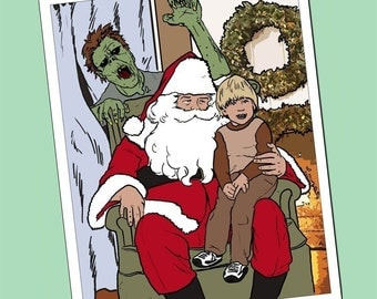 Ten Pack Zombies are More Scary Than Santas Lap Anti Holiday Cards