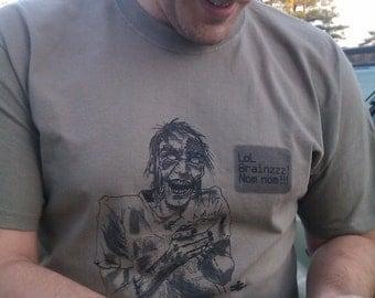 Small Zombie Texting Shirt Mens Prairie Dust