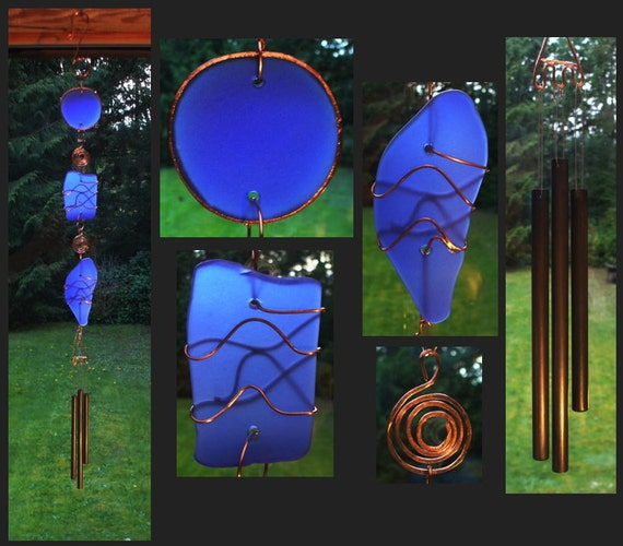 Wind Chime, Stained Glass, Beach Glass, Sea Glass, Windchime, Windchimes, Wind Chimes, Suncatcher