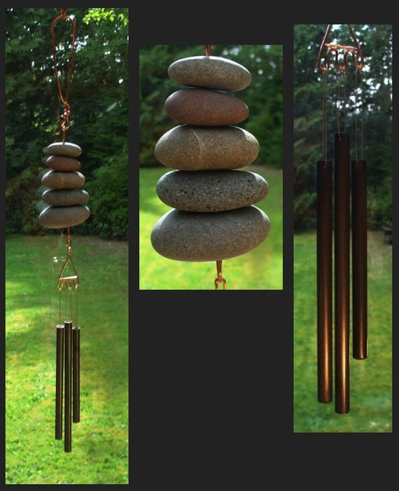 Wind Chime, Natural Beach Stone, Stones, Windchime, Windchimes, Wind Chimes