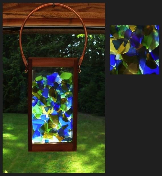 Suncatcher, Suncatcher Hanging, Beach Glass, Stained Glass, Sea Glass, Sun Catcher