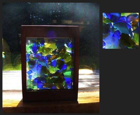 Suncatcher, Sun Catcher, Stained Glass, Beach Glass, Sea Glass, Freestanding
