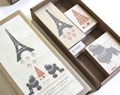 Paris Je t'aime Stamp Set
