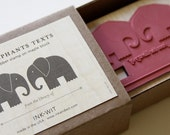 The Elephants Texts Bookplate Stamp