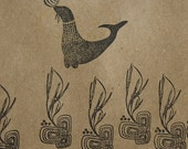 Silly Seal Natural Rubber Stamp