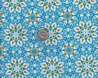 Jenean Morrison California Dreamin' Santa Rosa in Blue cotton quilt fabric - SALE - fat quarter