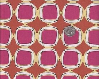 SALE - Half yard - Sew Square in Saffron - Kathy Davis - Journeys - cotton quilt fabric
