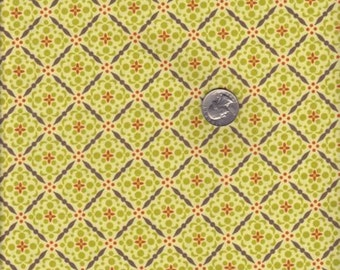 Half yard - Paper Snowflake in Loden - Meadowsweet 2 - Michael Miller cotton quilt fabric