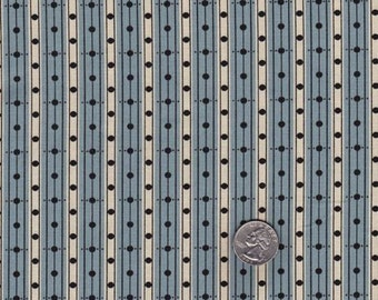 Half yard - Denyse Schmidt Greenfield Hill Library Stripe in Blueberry cotton quilt fabric