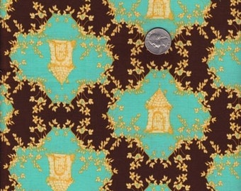 SALE - Half yard - Trellis in Chocolate -Tina Givens - Opal Owl cotton quilt fabric