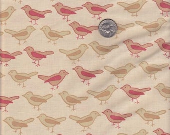 SALE - One yard - Birds in Twig - Valori Wells Nest cotton quilt fabric