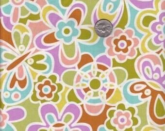 SALE - Fat quarter - Kaleidoscope in Green - Erin McMorris Weekend cotton quilt fabric