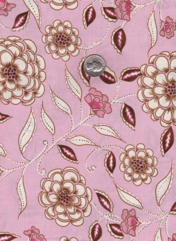 SALE - Fat quarter - Dena Designs - Leanika Rose in Pink cotton quilt fabric - out of print