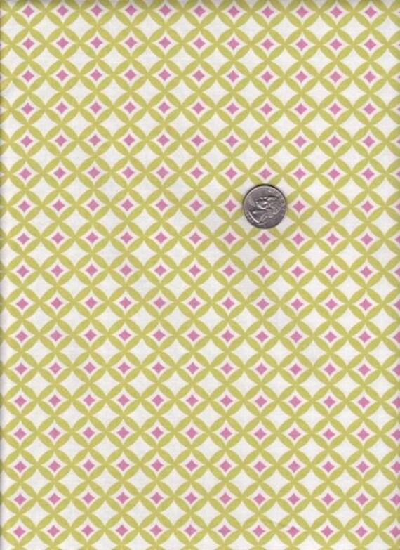 Fat quarter - Dena Designs Leanika Gemstone in Sage - cotton quilt fabric