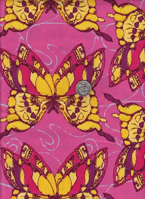 SALE - Fat quarter - Freedom in Yellow -Tina Givens - Havens Edge cotton quilt fabric