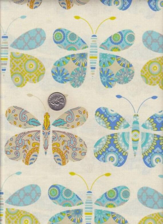 Fat quarter - Dena Fishbein - Kumari Garden - Sacha in Blue cotton quilt fabric