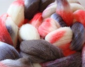 4.2 oz Handdyed Merino Wool - Leftover Fiber Fall Out