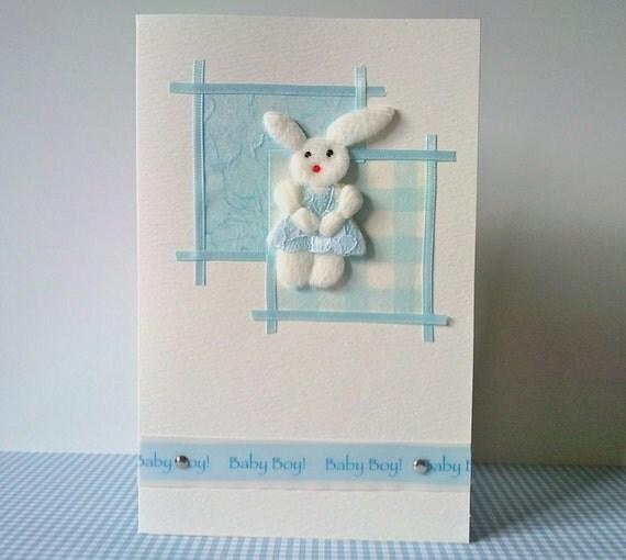 New Baby Boy congratulations card handmade