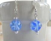 Blue Bloom Dangles