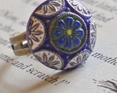 Vintage Style Ring ... Mosaic