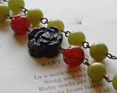 Lava Flower Necklace