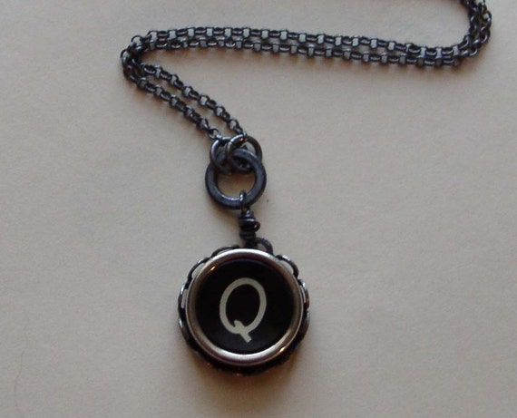 Typewriter Key Necklaces - You Choose the Letter