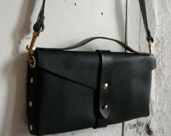 black on black clutch