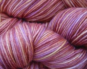 Handdyed Superwash Merino Yarn ROAST PLUM