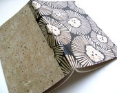 GRAPH PAPER JOURNAL - Chrysanthemum Cover - Block Printed Cover - Large Journal