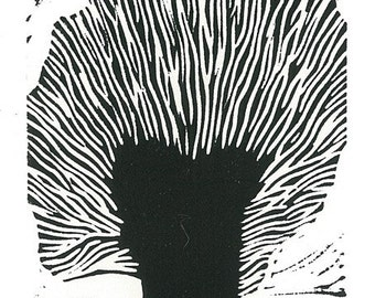 LINOCUT RELIEF  PRINT - Holland Willow - Wall Art Wall Decor Relief Print - Ready to Ship