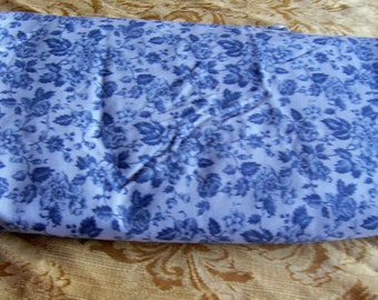 4 yards 44 inch wide blue rose cotton blend fabric