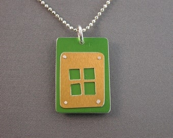 SMaddock SALE! Anodized Aluminum Sterling Silver Pendant
