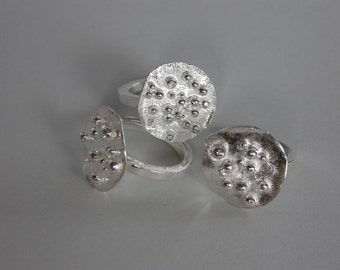 SMaddock Sterling Silver Granulation Ring