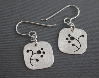 SMaddock Tree Series Silver Earrings