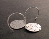 Hieroglyph Earrings Sterling Silver