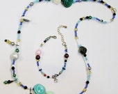 Handmade Beaded Necklace & Bracelet Set