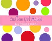 Girl - Custom - Eco Friendly - Natural - Felted Wool - Baby Mobile