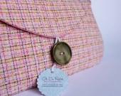 Clara Vintage Upcycled Tweed Clutch
