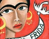 Frida Kahlo Red Dove MAGNET