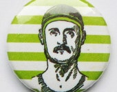 Retro swimmer with moustache 1 inch magnet set of 3
