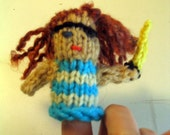 Handknit PIRATE FINGER PUPPET