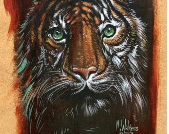 Acrylic Painting Simba  The Tiger