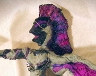 OOAK Art Doll Bird Goddess Freyla