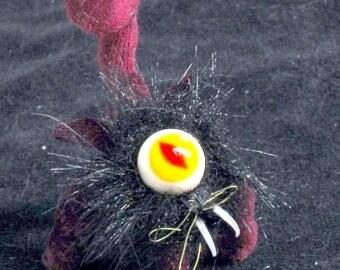3 miniature custom cats soft sculpture plush magic HexCats