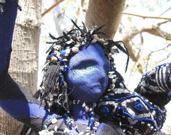 OOAK Art Doll Victorian Snake Dancer  Eve Cloth art doll