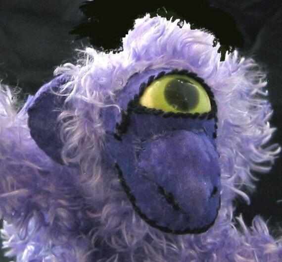 Plush Purple Monkey Mojo Minkeys BETTE soft sculpture monkey doll