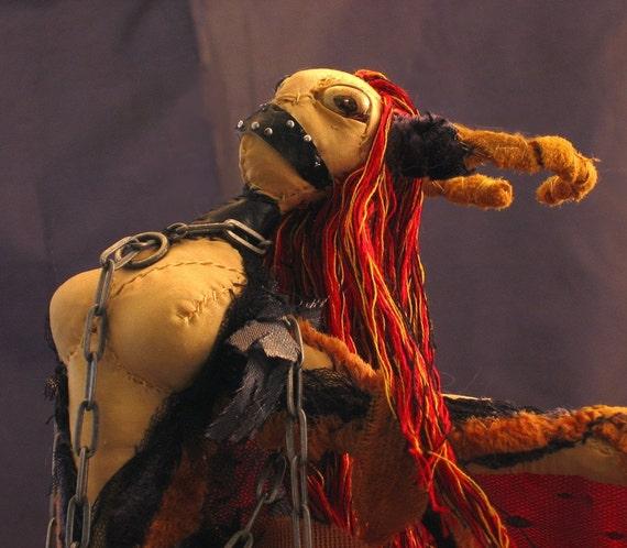Soft Sculpture Bondage Art Doll Sexual Fire  Mylitta Bound