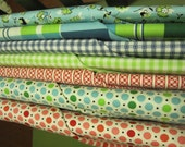 Fat Quarters of 7 Denyse Schmidt Picnic Fairgrounds Fabric Collection