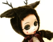 Deer Girl--One of a Kind Art Doll by BonspielCreation