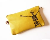 Leather Skelly  Phone Pouch